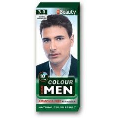 MM Beauty Боя за коса за мъже без амоняк, 3.0 Натурално тъмно кафяв