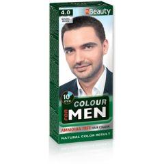 MM Beauty Боя за коса за мъже без амоняк, 4.0 Натурално кафяв
