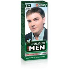 MM Beauty Боя за коса за мъже без амоняк, 5.0 Натурално светло кафяв
