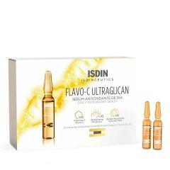 ISDIN Isdinceutics Flavo-C Ultraglican Дневен антиоксидантен серум за лице 10 ампули x 2 мл