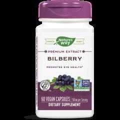 Nature's Way Bilberry Черна боровинка и Бъз за подкрепа на зрението 200 мг х60 V капсули