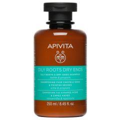 Apivita Holistic Hair Care Шампоан за коса за мазен скалп и сухи краища 250 мл