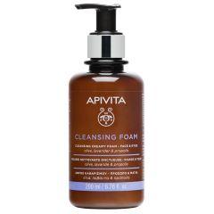 Apivita Cleansing Почистваща кремообразна пяна за лице и очи 200 мл