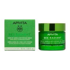 Apivita Bee Radiant Озаряващ гел-крем за лице за всеки тип кожа с лека текстура 50 мл