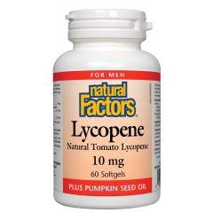 Natural Factors Lycopene Ликопен за здрава простата 10 мг х 60 софтгел капсули