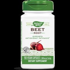 Nature's Way Beet root Червено цвекло в подкрепа на сърдечно-съдовата система и кръвообръщението 500 мг х100 V капсули