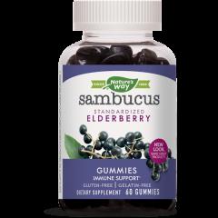 Nature's Way Sambucus Gummies за силен имунитет и тонус х60 желирани таблетки