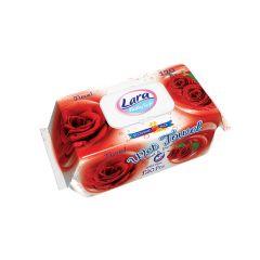 Lara Мокри кърпички с екстракт от роза x120 бр