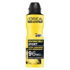 Loreal Men Expert Invincible Sport 96h Део спрей против изпотяване за мъже 150 мл