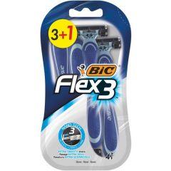Bic Flex 3 Самобръсначка за многократна употреба за мъже х 3+1 бр