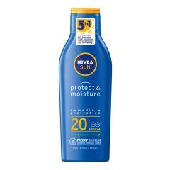 Nivea Sun Protect & Moisture Слънцезащитен хидратиращ лосион SPF20 200 мл