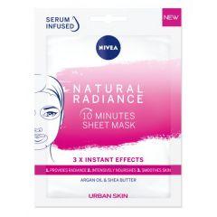 Nivea Natural Radiance Лист маска за лице за уморена кожа 1 бр