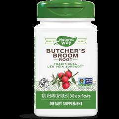 Nature's Way Butcher's Broom Бодлив залист при разширени вени и хемороиди 470 мг х100 V капсули