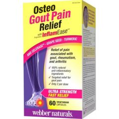 Webber Naturals Osteo Gout Pain Relief with Inflam Ease Формула при подагра 570 мг х 60 V капсули