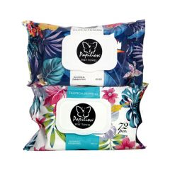 Papilion Tropical Flowers Мокри кърпи x72 бр
