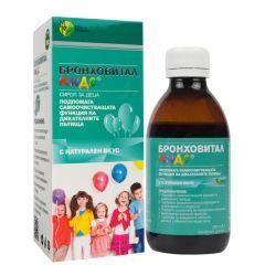 Бронховитал Кидс сироп за деца подпомага самоочистващата функция на дихателните пътища 200 мл Мирта Медикус