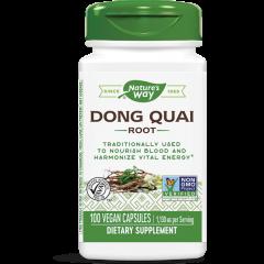 Nature's Way Dong Qual Root Корен от Китайска ангелика в подкрепа на женския организъм при менопауза 565 мг х100 V капсули