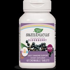 Nature's Way Sambucus Kids за деца за имунитет и тонус х40 дъвчащи таблетки