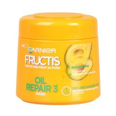 Garnier Fructis Oil Repair Маска за суха и увредена коса с комплекс от 3 масла 300 мл