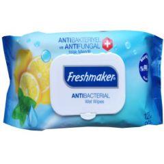 Fulya Kozmetik Freshmaker Antibacterial Антибактериални мокри кърпички с капак 120 бр