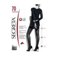Segreta Autoreggente AF Самозадържащи се компресивни дамски чорапи Черни Размер XL 70 DEN Ibici