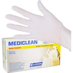 Латексови ръкавици Кутия Размер L 100 бр Uromedis
