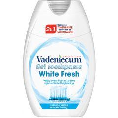 Vademecum White Fresh 2in1 Избелваща паста за зъби и антибактериална вода за уста 75 мл