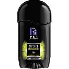 Fa Men Xtreme Sport Energy Boost Део стик против изпотяване за мъже 50 мл