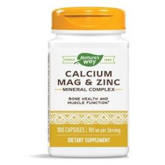 Nature's Way Calcium/Mag/Zinc Калций, магнезий, цинк 166/83/5 мг х100 капсули