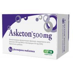Аскетон при разширени вени и хемороиди 500 мг х64 таблетки Agetis