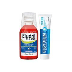 Eludril Classic Вода за уста 200 мл + Elgydium Antiplaque Паста за зъби антиплака 50 мл Комплект