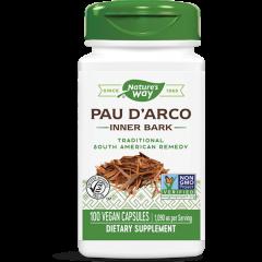 Nature's Way Pau D`Arco Inner Bark Кора от Мравчено дърво за пълна подкрепа на имунната система 545 мг х100 V капсули