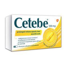 Cetebe Витамин C за висок имунитет 500 мг х30 капсули с удължено освобождаване GlaxoSmithKline