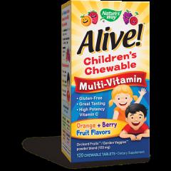 Nature's Way Alive Children's Chewable Multi-Vitamin Алайв мултивитамини за деца 1.55 г х120 дъвчащи таблетки