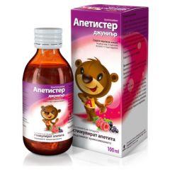 Апетистер Джуниър сироп за стимулиране на апетита при деца 100 мл Aflofarm