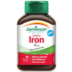 Jamieson Gentle Iron Желязо Комплекс 28 мг х 90 капсули
