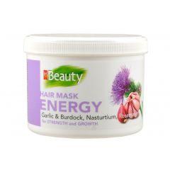 MM Beauty Маска за укрепване и стимулиране растежа на косата с екстракт от чесън, репей, латинка и розмарин 500 мл