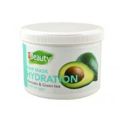 MM Beauty Хидратираща маска за всеки тип коса с масло от авокадо и екстракт зелен чай 500 мл