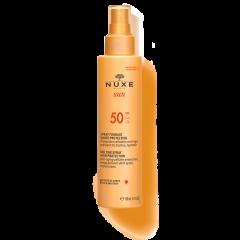 Nuxe Sun Слънцезащитен млечен спрей за лице и тяло SPF50 150 мл