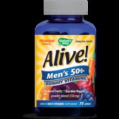 Nature's Way Alive Men's 50+ Алайв мултивитамини за мъже 50+ 150 мг х75 желирани таблетки