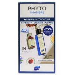 Phyto Phytophanere Укрепващ и ревитализиращ шампоан 250 мл + Phyto Phytophanere Хранителна добавка за коса и нокти х 120 капсули Комплект