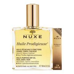 Nuxe Huile Prodigieuse Мултифункционално сухо олио 100 мл + Подарък: Nuxe Prodigieux Парфюм 1,2 мл Комплект