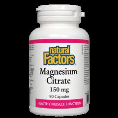 Natural Factors Magnesium Citrate за поддържане на мускулната функция 150 мг х 90 капсули