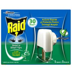 Raid Изпарител с пълнител против комари с евкалипт 21 мл SC Johnson