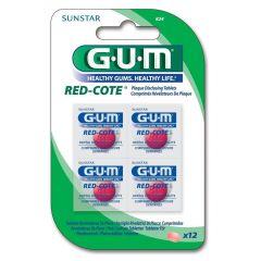 GUM Red-Cote Таблетки за индикиране на зъбна плака x12 бр