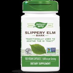 Nature's Way Slippery Elm Bark Кора от червен бряст при стомашно-чревни нарушения 400 мг х100 V капсули
