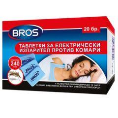 Bros Таблетки за електрически изпарител против комари 20 бр