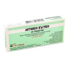 Активен Въглен 250 мг 20 таблетки Farmak