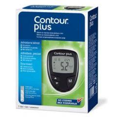 Contour Plus Глюкомер за кръвна захар + Contour Plus Тест-ленти за кръвна захар 5 бр Комплект