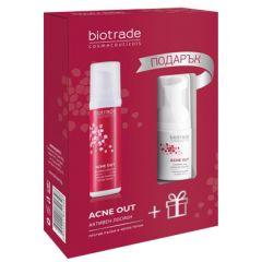 Biotrade Acne Out Активен лосион за акнеична кожа 60 мл + Biotrade Acne Out Измивна пяна за акнеична кожа 20 мл Комплект